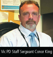 Vic PD Staff Sergeant Conor King
